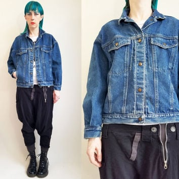 80s Calvin Klein Denim Jacket Vintage Jean Jacket Vintage Denim Jacket Medium  Wash Jean Jacket Vintage CK Size Medium  Large Made in USA