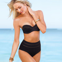 Retro Black High Waist Push Up Bikini  10458