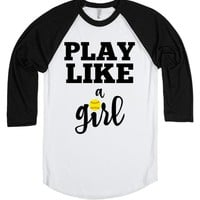 Play like a softball girl baseball tee tshirt shirts