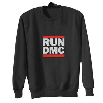 run dmc sweater Black Sweatshirt Crewneck Men or Women for Unisex Size with variant colour