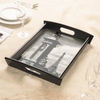 Alexander III Bridge and Eiffel Tower in Paris Serving Platters