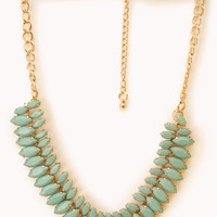 Marquis Faux Stone Necklace