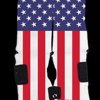 America USA flag Custom Nike Elites Vintage