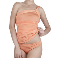 Coral Cleo Control Asymmetrical Tankini | something special every day
