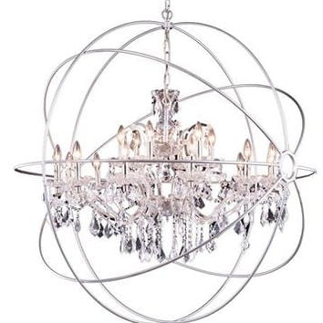 Metro Orb Crystal Chandelier 18 from LimeLight Lamps