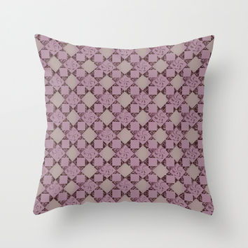 pattern (pale pink#2) Throw Pillow by Rouble Rust