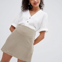 Nobody's Child mini skirt in vintage check at asos.com