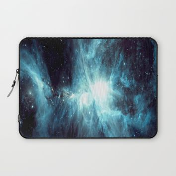 Orion Nebula Teal  Laptop Sleeve by GalaxyDreams