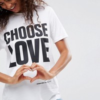 Help Refugees Choose Love T-Shirt In White at asos.com