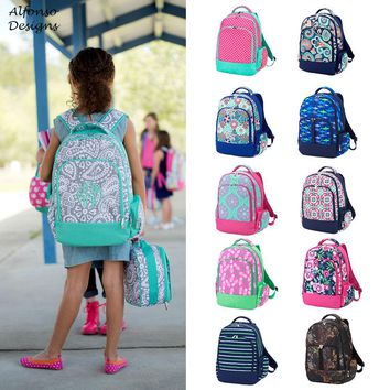 Kids Monogrammed Backpack