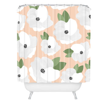 Allyson Johnson Romantic Floral Shower Curtain