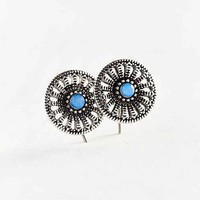 Ocean Stone Post Earring- Silver One