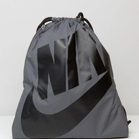 Nike Fashion Men Women Drawstring Backpack In Grey