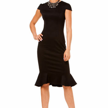 Little Black Dress,Dress Tango,Party Dress ,Feminine Dress Retro Style,Jersey Dress Elegant for Woman.