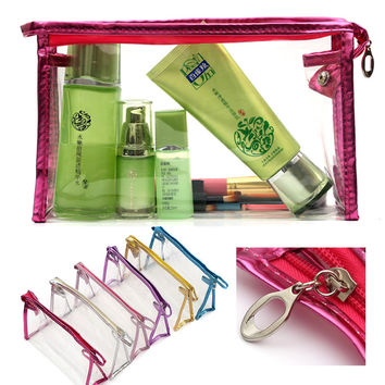 PVC Women Makeup Cosmetic Bag Waterproof Transparent Make Up Organizer Storage Wash Clear For Travel HB88