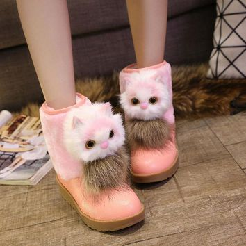 VLX2WL On Sale Hot Deal Shoes Korean Stylish With Heel Cotton Lovely Boots [9432933706]