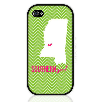 CREATE YOUR OWN - Southern Girl State Love iPhone 5,  iPhone 4 Case, iPhone 4s Case, Cases for iPhone 4, iPhone Cover (0162)