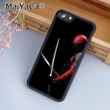 MaiYaCa Deadpool Superhero Movie Marvel Comic Phone Case Cover for iPhone 5 5s 6 6s 7 8 Plus X case for samsung S7 S8 edge Plus