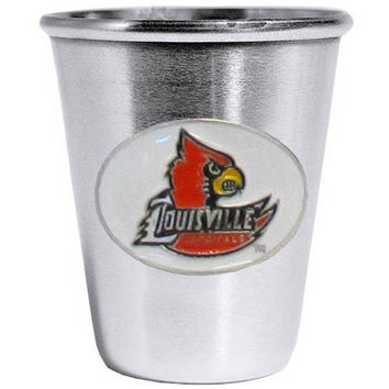 Louisville Cardinals Steel Shot Glass CSS88
