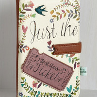 Folk Art Girl Meets Voyage Travel Wallet by Disaster Designs from ModCloth