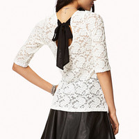 Bow Back Lace Top