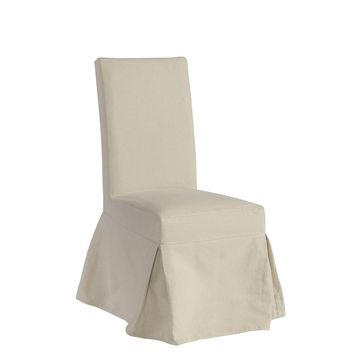 Charlotte Transitional Slipcover Dining/Accent Chair Off-White