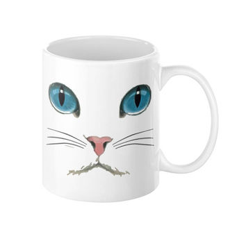 Cat Face Coffee Mug 11oz - 15oz cup