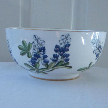 Boehm Porcelain Bowl Barbara Bush Bluebonnet 1989