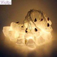 FENGRISE 10pcs Unicorn Night Light LED Light String Christmas Decorations for Home New Year Party Merry Christmas Ornaments