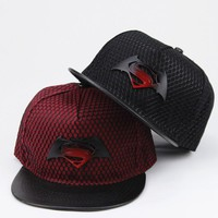 Superman Batman Snapback Hats