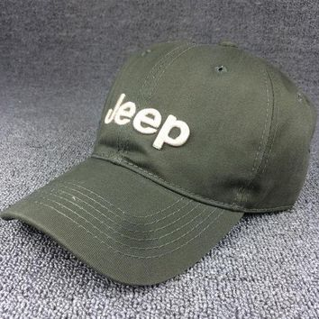 PEAPDQ7 Army Green Color Jeep Embroidered Baseball Cap Hat