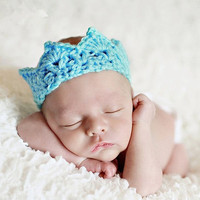 New 6 Colors Arrival Baby Girl Boy Crochet Knit Prince Crown Headband Hats Hair Accessories = 1958166340