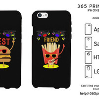 Burger and Fries Best Friend Matching Phone Cases - 365 Printing Inc