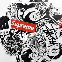 45mixed graffiti supreme sticker waterproof home decor Doodle laptop motorcycle travel