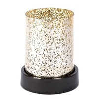 Gold Cylinder Candle Lamp  D1180 - Jars & Holders