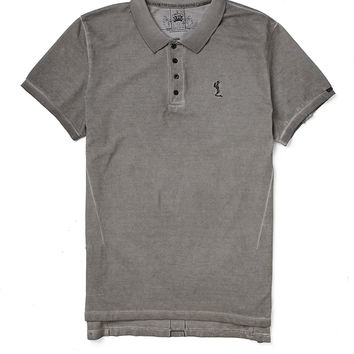 Religion Polo Shirt with Oil Wash