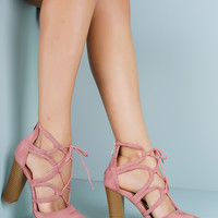 Beauty Heeled Booties - Dusty Rose