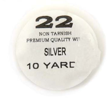 22 Ga Non Tarnish Silver Plated 10 yard