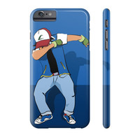Pokemon Ash Ketchum Dab Dabbin Pikachu Charmander Galaxy IPhone Phone Case - Case15