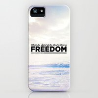 "2 Corinthians 3:17 ""Freedom"" iPhone & iPod Case by Pocket Fuel"