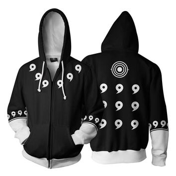 Naruto Sasauke ninja Cloudstyle 3D Zip Up Hoodies Men  3D Print Cosplay Clothing Sweatshirt Thin Coat Hoody Streetwear Zipper Jacket Hipster AT_81_8