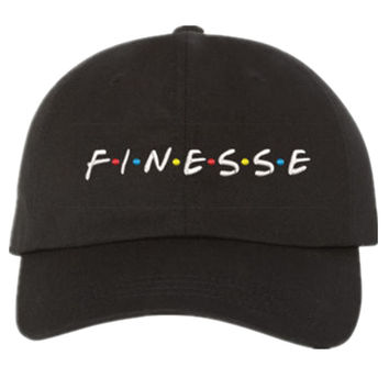 FINESSE - BLACK DAD Hat (slide buckle)