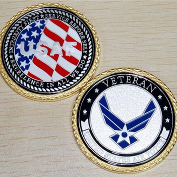 U.S. Air Force Veteran Challenge Coin