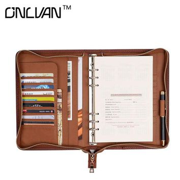 PU Leather Manager Folders Portfolio Faux Leather Padfolio Document Holder Office Supply Business Accessories Support Customized