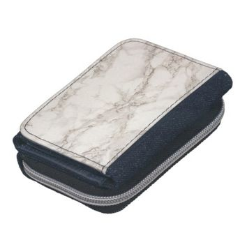 Marble Stone Denim Wallet with Coin Purse