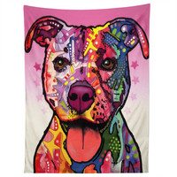 Dean Russo Cherish The Pitbull Tapestry