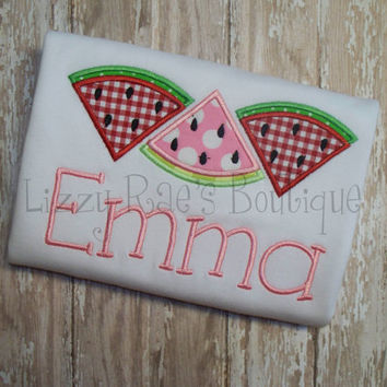 Watermelon applique shirt- Boutique applique shirt