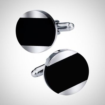 Luxury Black Stone Cuff-links for Men