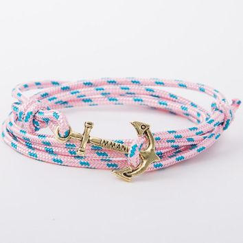 2017 New Retro Alloy Anchor Bracelet Multilayer Leather Risers Bracelet for Women&Men Friendship Bracelets