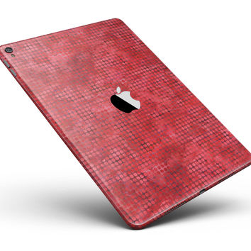 """Red Watercolor Polka Dots Full Body Skin for the iPad Pro (12.9"""" or 9.7"""" available)"""